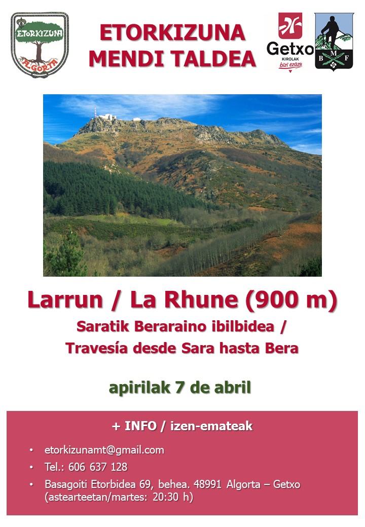 Cartel Larrun