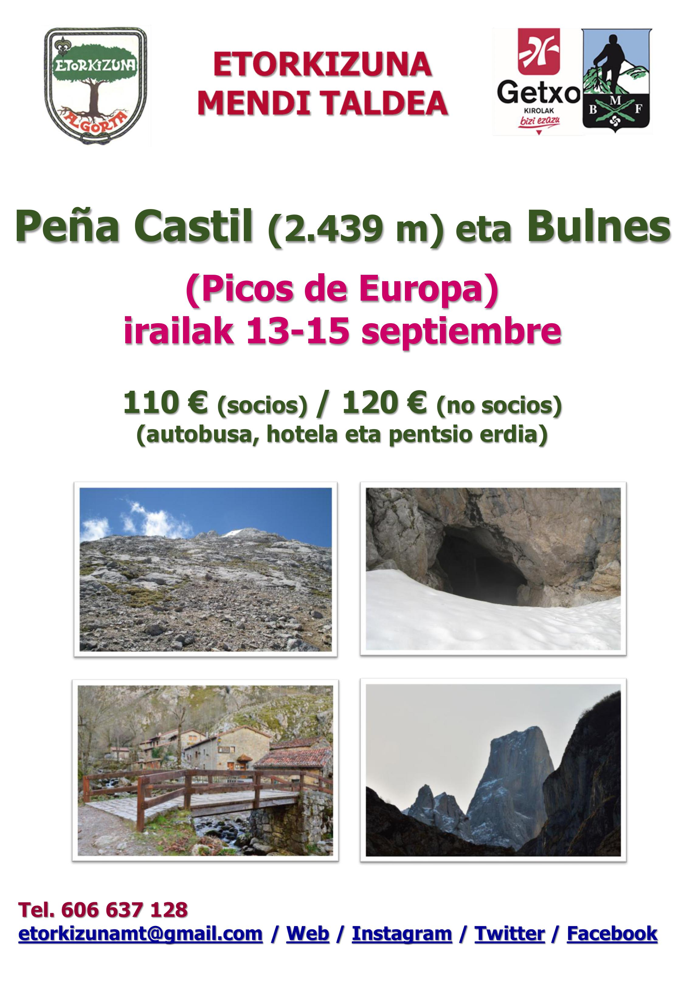 Cartel Peña Castil-Bulnes